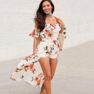BRAND NEW, floral romper/dress